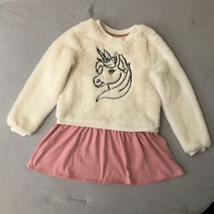 Other - GIRLS UNICORN DRESS. Size approx 4/5
